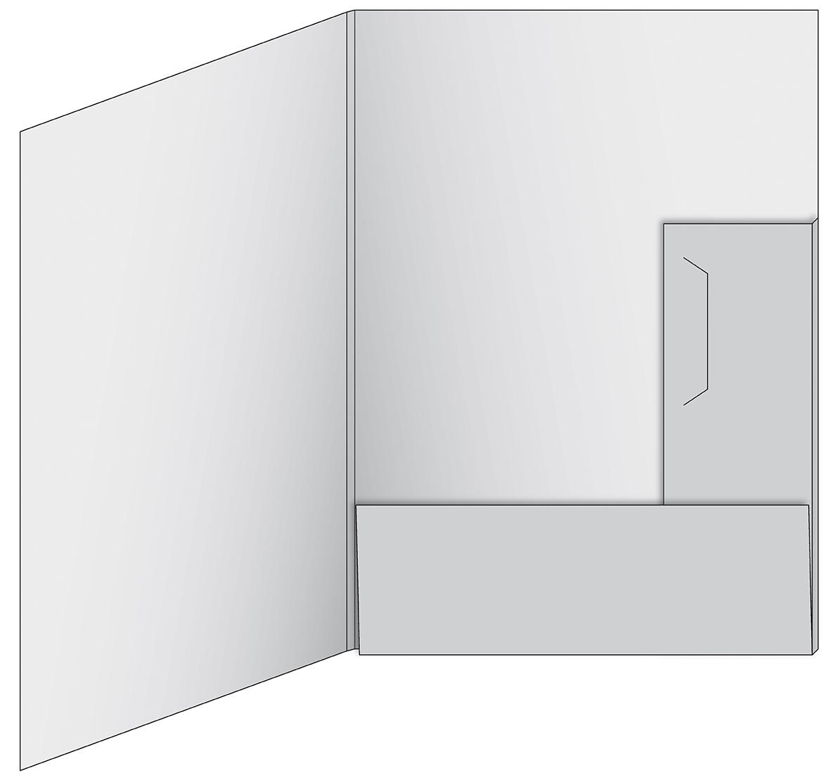 Mappe 017 mit Visitenkarten-Schlitz